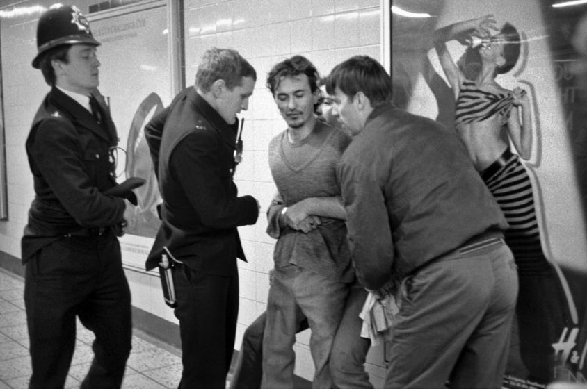 'Man being arrested, Oxford Circus'